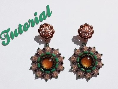 "[Beadwork] DIY Tutorial ""Daisy earrings"" - Come fare orecchini con rulla e biconi swarovski"