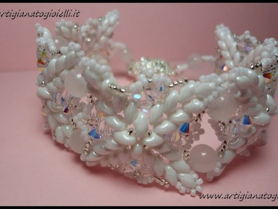 DIY Tutorial Bijoux Bracciale - perline e superduo -  Elegant Ice