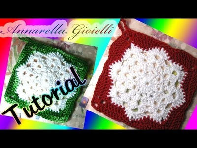Tutorial presina di Natale all'uncinetto | How to crochet a Christmas Potholder