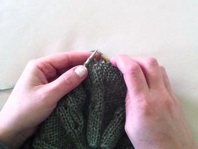 Aumento sollevato a rovescio - Make one purl