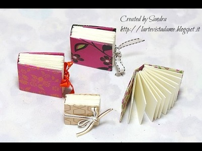 Mini Book Origami Tutorial-Easy Origami DIY-Notes Origami-Librettini Origami semplici