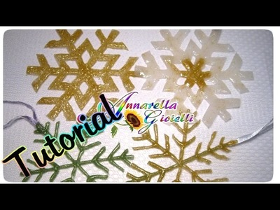 Tutorial fiocchi di neve con la colla a caldo colorata | DIY Snowflake with Hot glue