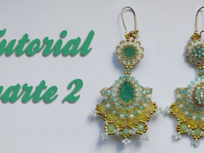 Tutorial Flamenco Earrings - Parte 2 DIY- Orecchini con biconi Swarovski