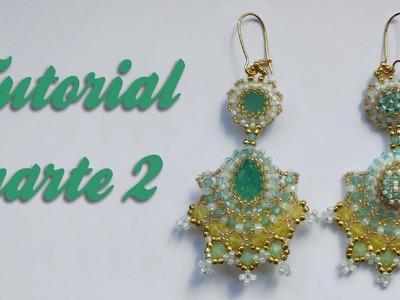 Tutorial Flamenco Earrings - Parte 2 DIY- Orecchini con biconi Swarovski