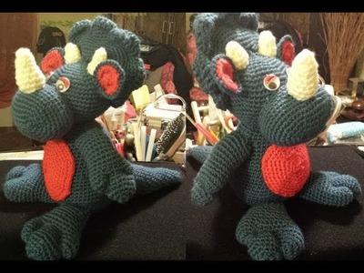 Dinosauro Amigurumi 2 di 2  tutorial uncinetto crochet