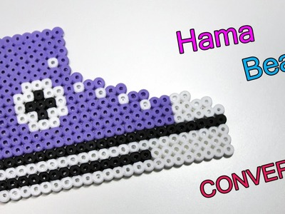 Scarpa Converse con Hama Beads.Perler Beads Shoes Tutorial