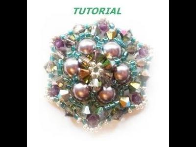 Tutorial, come fare ciondoli con perle perline cristalli. Ciondolo edera