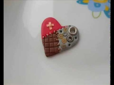 Tutorial cuore steampunk (polymer clay tutorial)