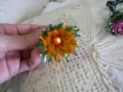 Spirale e Fiori in tessitura di perle (Peyote-Herringbone-Netted)