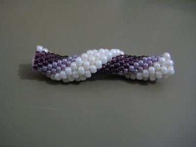 Tutorial : tubolare crochet con perline rocailles 11.0 e 8.0 - 2^ parte