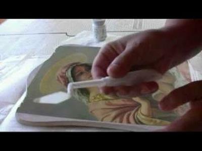 Decoupage , icona madonna con bambino ,tutorial