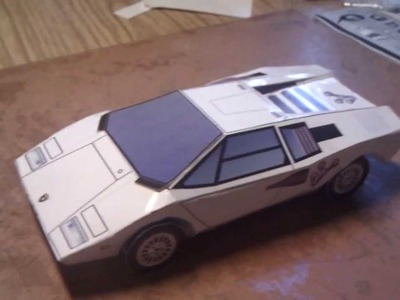 Lamborghini countach LP400 paper craft