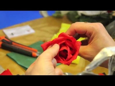 Rose Rosse di Carta Crespa Cartotenica Rossi - Crepe Paper Red Roses
