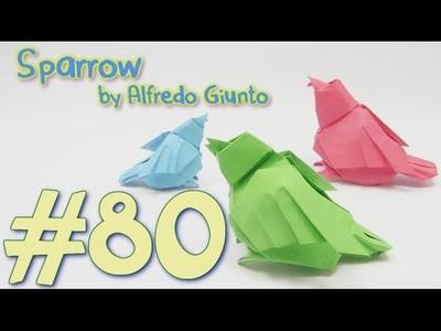 Origami Bird Sparrow  by Alfredo Giunta - Yakomoga Origami tutorial