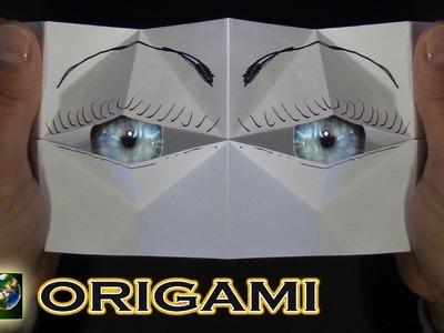 Origami facili e veloci. Battito ciglia. Occhi. Origami easy and fast.