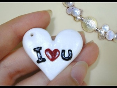 Tutorial 33 • cuore I ♥ u - how to create heart in polymer clay + ringraziamento a Valentina^^