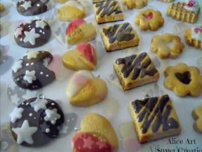 Ciondoli charm Biscotti polymer clay fimo
