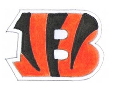 Como desenhar escudo do Cincinnati Bengals NFL - How to Draw Cincinnati Bengals Logo - Como dibujar