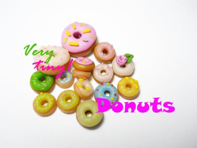 Donuts & Mini Donuts - Polymer Clay Tutorial