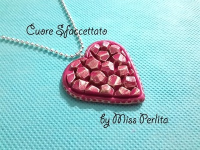 Pasta Polimerica - Polymer Clay Tutorial: Ciondolo San Valentino ♥ Valentine's Day Pendant