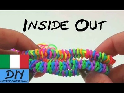 Rainbow Loom INSIDE OUT Bracciale in ITALIANO Fishtail DIY Tutorial
