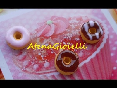 Tutorial Ciambelline flash! (polymer clay tutorial donuts)