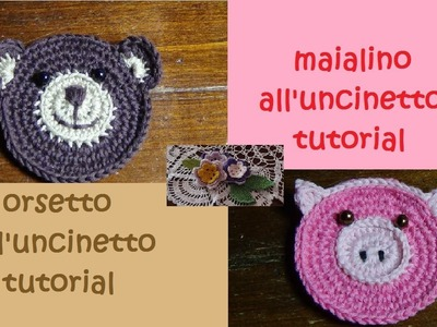 Animaletti all'uncinetto tutorial (orsetto e maialino)