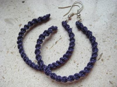 Orecchini a spirale con filo di cotone e metallico