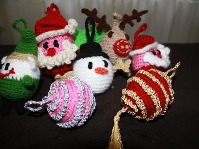 Palline di Natale amigurumi la renna