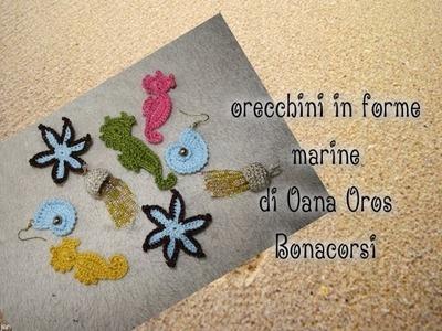 Tutorial orecchini in forme marine stella di mare