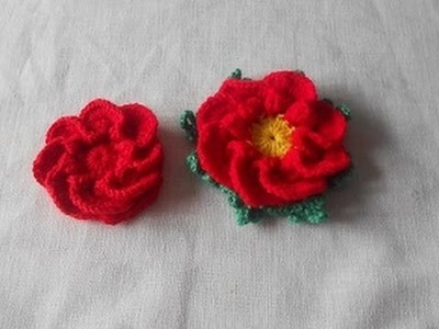 Crochet Uncinetto Fiore Lorena crochet flower ganchillo flor
