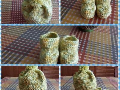 Uncinetto:cappellino e scarpine neonato #2 maschietto.