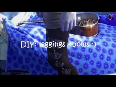 DIY: leggings bow :)
