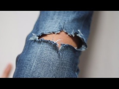 Easy DIY: Ripped jeans