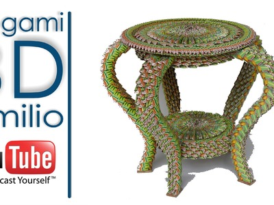 TAVOLINO ORIGAMI 3D EMILIO, TABLA ORIGAMI