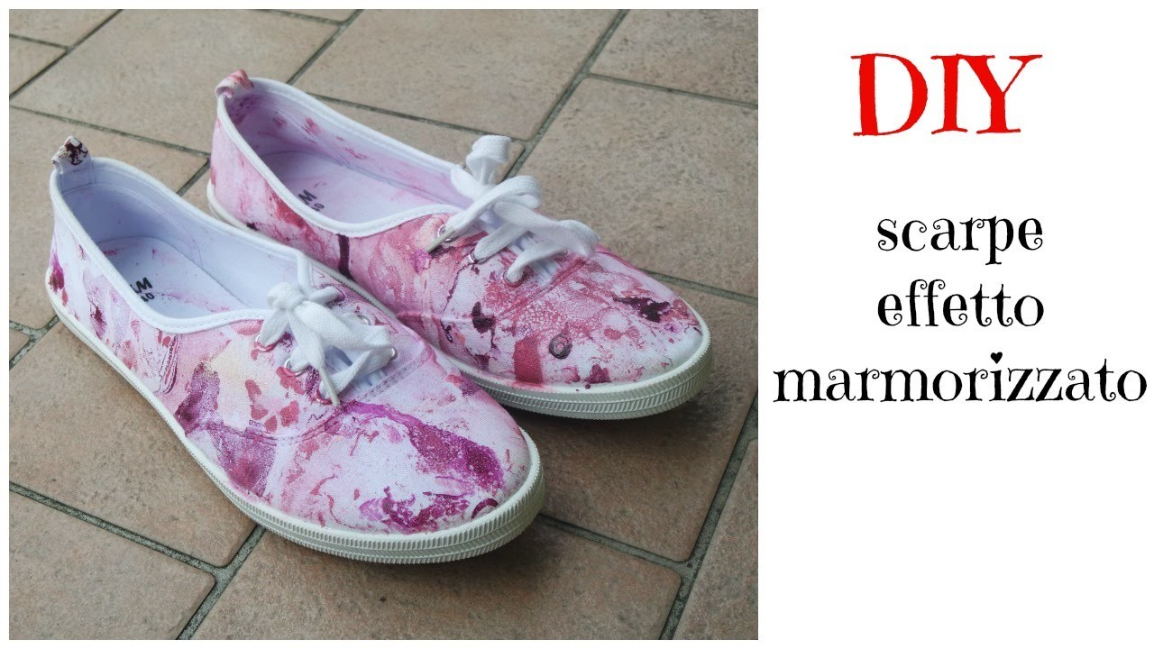#DIY - Scarpe effetto marmorizzato
