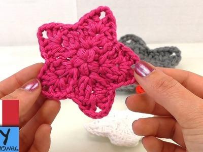 Punti uncinetto fiore alluncinetto 8 petali tutorial - Fiore collegare i punti ...