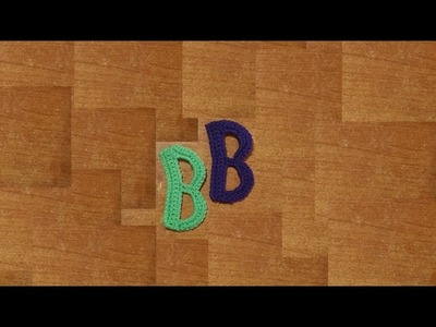 Alfabeto all'uncinetto la lettera B   letter b crochet  -  tutorial