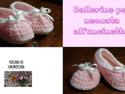 Ballerine per neonata all'uncinetto tutorial