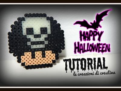 Funghetto di Super Mario con Teschio con HAMA BEADS.Pyssla - DIY Skull Halloween Tutorial