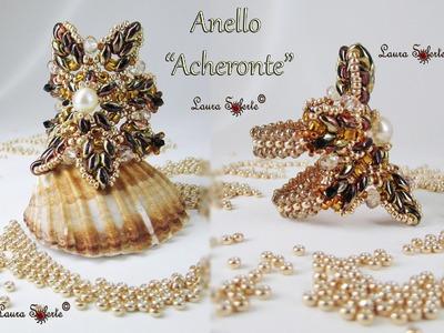 Tutorial Anello Acheronte di perline, cristalli, superduo o twin beads, prima parte