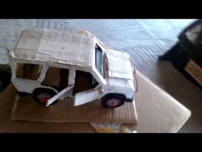 Masini de carton paper model