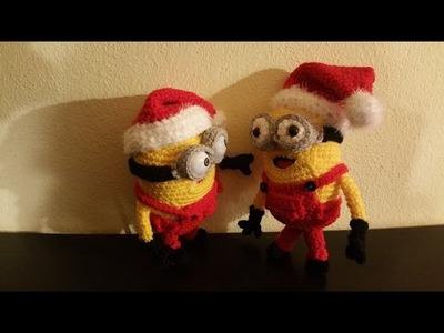 Minion All'uncinetto -  Minion Natale amigurumi Parte I di III - crochet minion