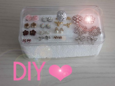 Porta orecchini fai da te - DIY Earrings holder