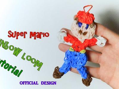 SUPER mario bross CON ELASTICI rainbow loom SUPER MARIO como hacer super mario con gomitass