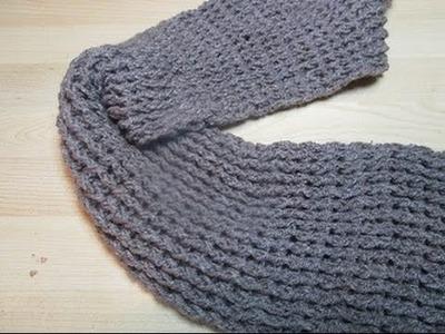 Crochet Uncinetto Sciarpa Rilievo Unisex Tutorial