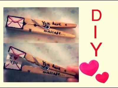 DIY : molletta ti amo - IDEE REGALO FAI DA TE per lui. lei
