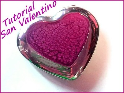 Idea per San Valentino, tutorial come decorare uno specchietto a cuore con pebeo fantasy