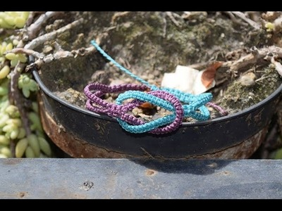 Tutorial: pulsera nudo cuadrado (square knot bracelet) macrame facil