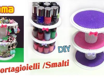 DIY Porta Smalti.Gioielli con Pyssla | Hama Beads Jewelry Organizer